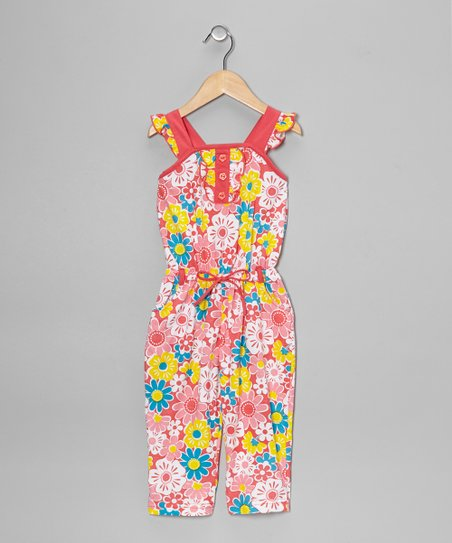 Coral Floral Jumpsuit - Toddler & Girls