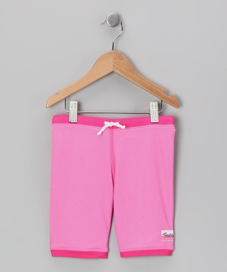 Pink Swim Shorts - Girls