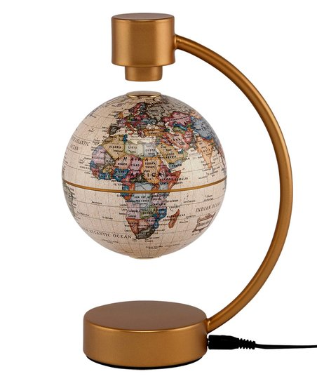 Antique Political 4'' Levitating Globe