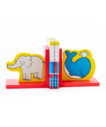 Baby's First Learning Book & Bookend Set