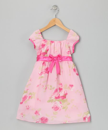 Pink Chiffon Babydoll Dress - Infant, Toddler & Girls