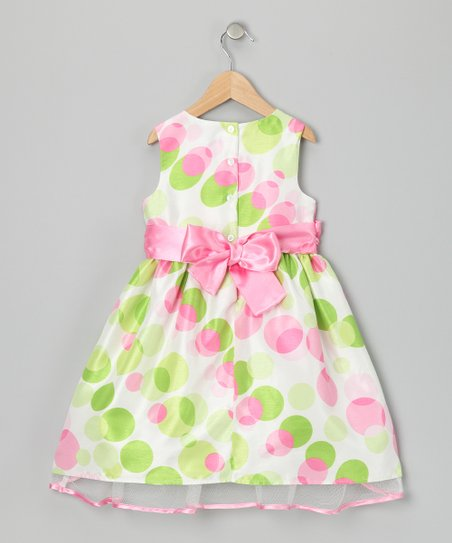 Pink & Green Felicity Dress - Toddler & Girls