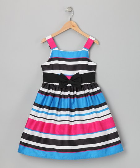 Fuchsia & Aqua Samantha Dress - Girls