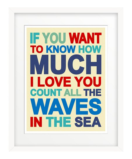 Nautical Blue 'If You Want to Know' Giclée Print
