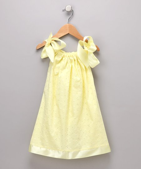 Yellow Eyelet Swing Dress - Infant, Toddler & Girls