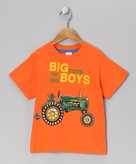 Orange &#039;Big Boy Toys&#039; Tee - Infant, Toddler &amp; Boys
