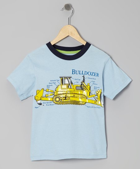 Light Blue 'Bulldozer' Tee - Toddler