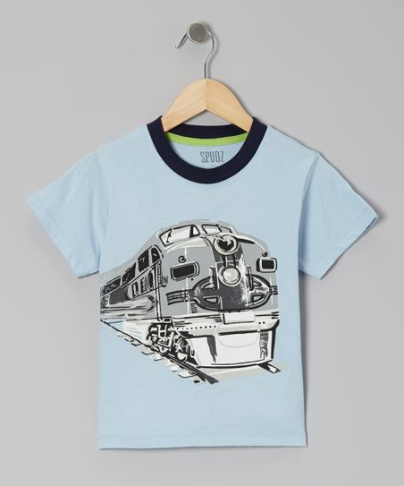 Light Blue Train Tee - Infant