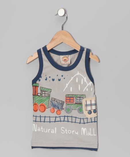 Light Gray 'Natural Story' Tank - Boys