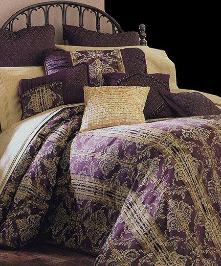 Purple & Gold Marian Five-Piece Bedspread Set