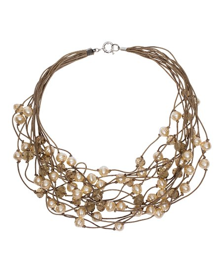 Pearl & Brown Luminosity Multi-Strand Necklace