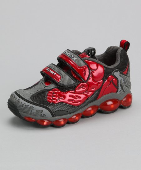 Red & Gray Jr Tuono Sneaker