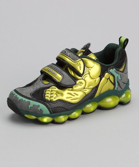 Lime & Dark Green Jr Tuono Sneaker