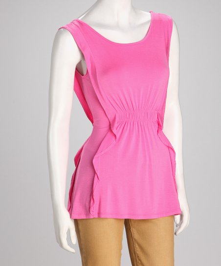 Pink Jersey Sleeveless Top