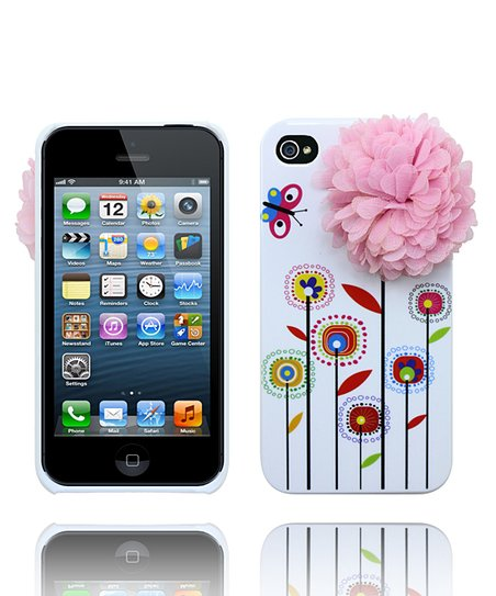 Pastel Pink & White Spring Flower Case for iPhone 4/4S