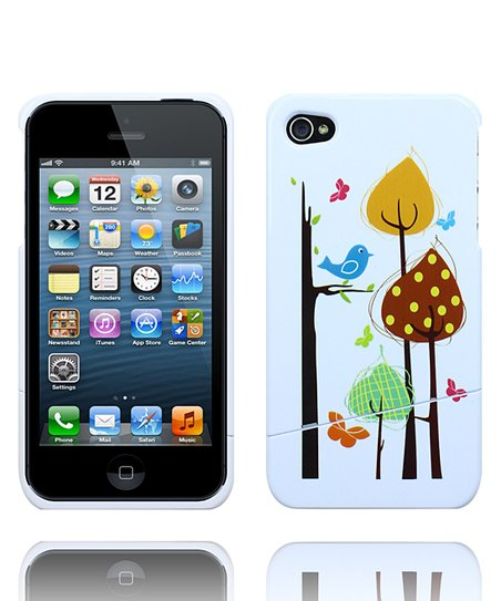 Tan Birdie & Tree Case for iPhone 4/4S