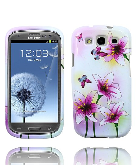 Dancing Butterfly &amp; Flower Case for Samsung Galaxy S III