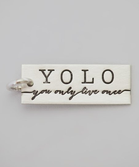 Sterling Silver Expressions 'You Only Live Once' Charm