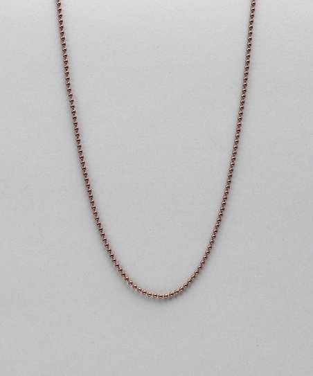 Antiqued Copper Ball Chain Necklace