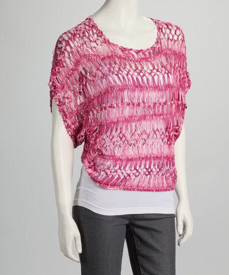 Fuchsia Crocheted Top