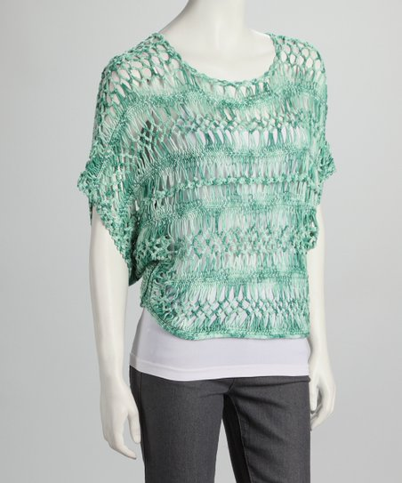 Green Crocheted Top