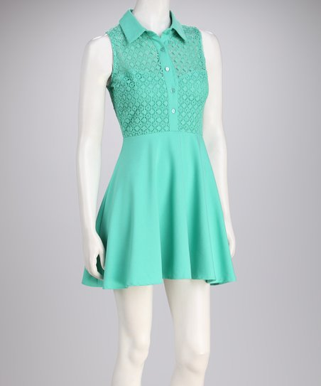 Green Mesh Dress