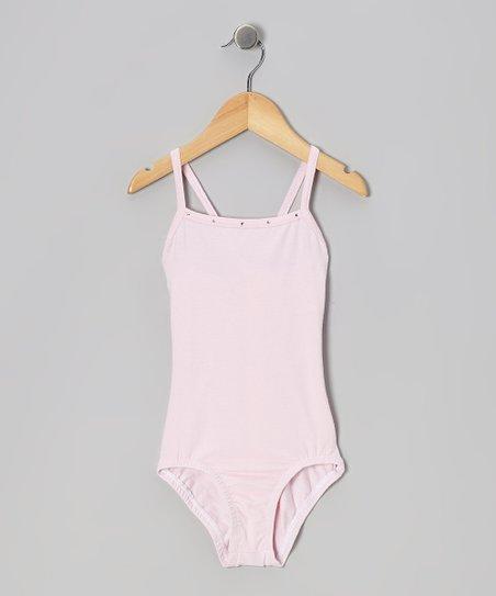 Pink Crisscross Leotard - Girls