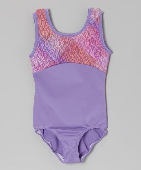 Lavender Lace Leotard - Girls