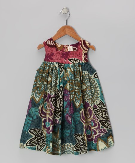 Green Leaf Dress - Toddler & Girls
