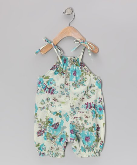 Ivory Floral Playsuit - Infant