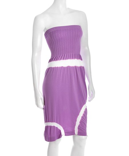 Purple Tie-Dye Tube Dress