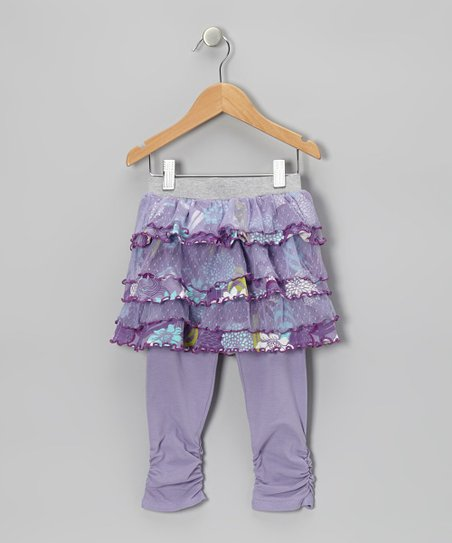 Lavender Water Garden Skirted Leggings - Toddler & Girls