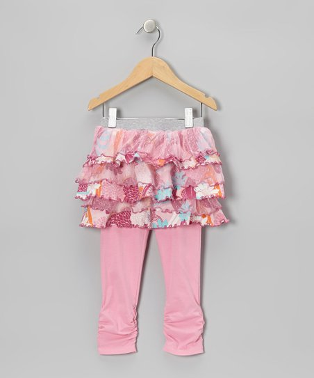 Blushing Bride Water Garden Skirted Leggings - Toddler & Girls