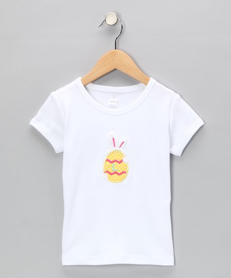 White Bunny Egg Tee - Infant, Toddler & Girls