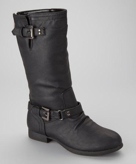 Black Coco Buckle Boot