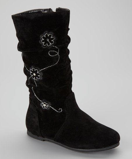Black Data Flower Boot