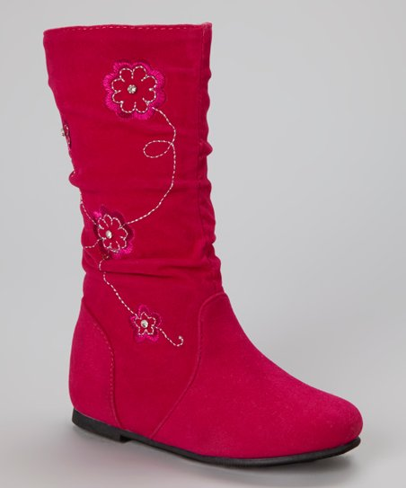 Fuchsia Data Flower Boot