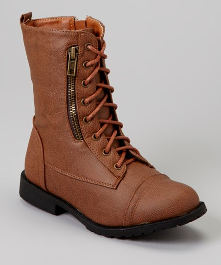 Tan Sun Zipper Boot
