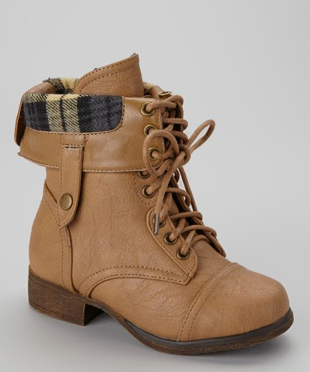 Taupe Smart Lace-Up Boot