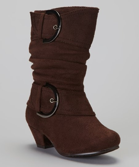 Brown Auto Buckle Boot