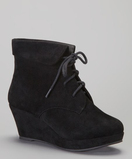 Black Max Wedge Bootie
