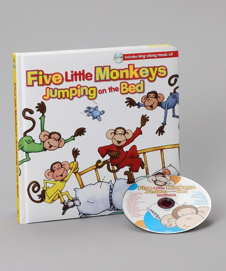 Five Little Monkeys Board Book & CD