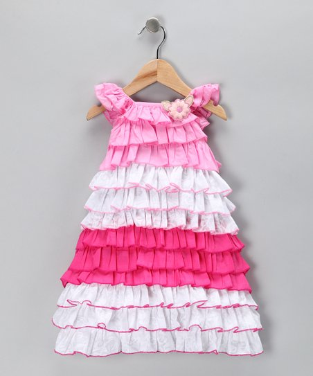Pink Tiered Ruffle Dress - Toddler & Girls