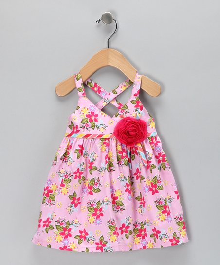 Pink Floral Rosette Dress - Infant & Toddler