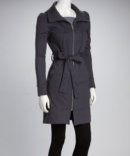 Synergy Gray Belted Organic Jacket