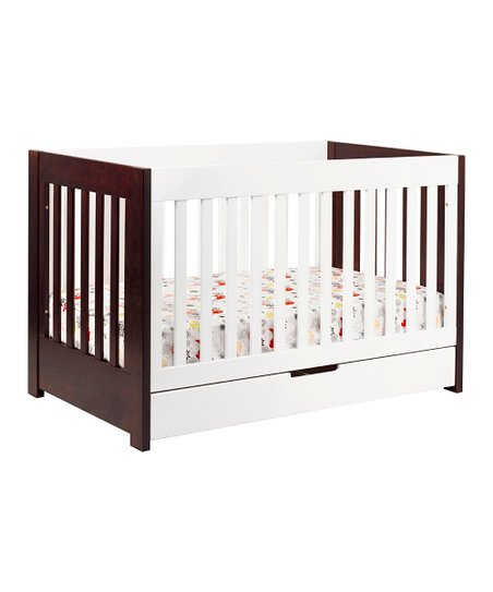 Espresso & White Mercer 3-in-1 Convertible Crib
