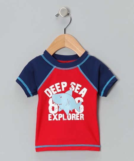 Red Shark Sun Alert Rashguard - Infant, Toddler &amp; Boys