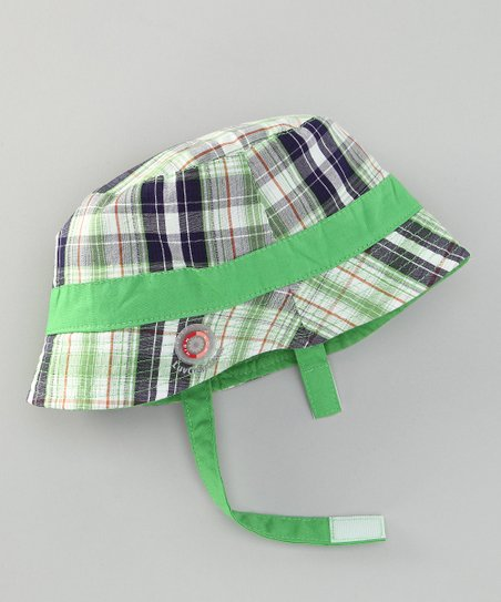 Green Plaid Sun Alert Reversible Sunhat