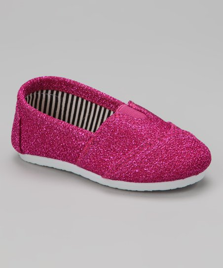 Pink Glitter Wrapped Panel Slip-On Shoe