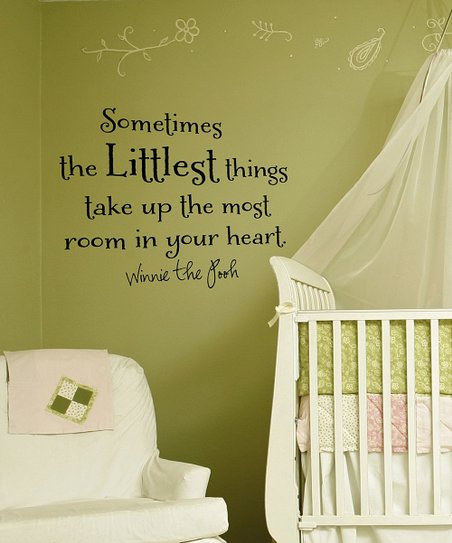 Black 'Littlest Things' Wall Quote
